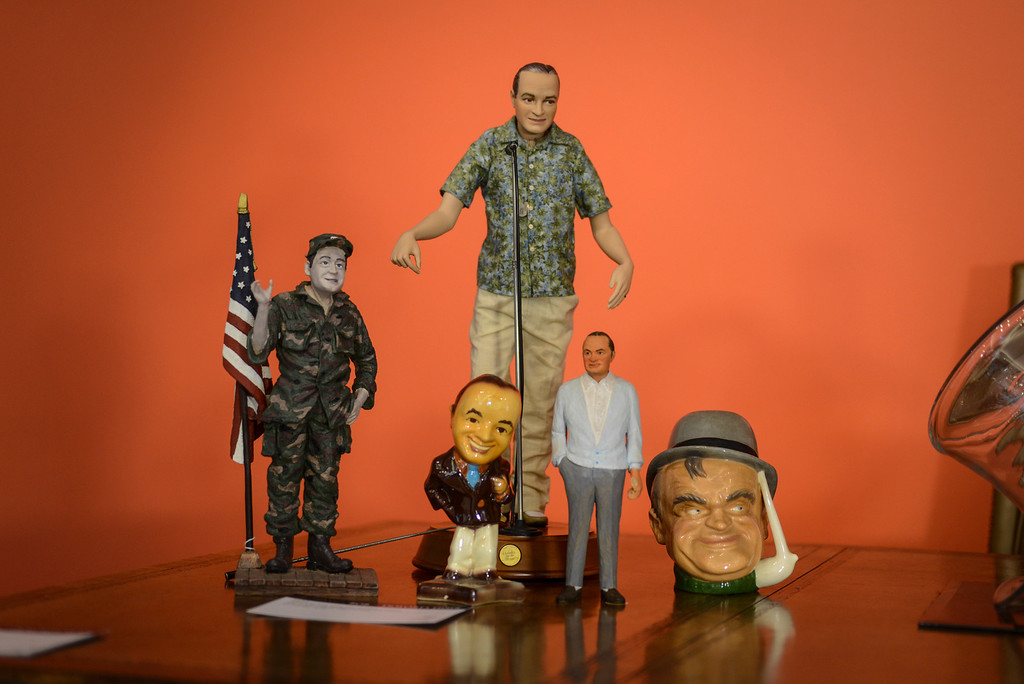 . Bob Hope action figures, some of the items from the estate of Bob Hope to be auctioned off by Julien\'s Auctions in Beverly Hills, CA.  September 9, 2013.  The auction is combined with an auction of Phyllis Diller items.    (Photo by David Crane/Los Angeles Daily News)