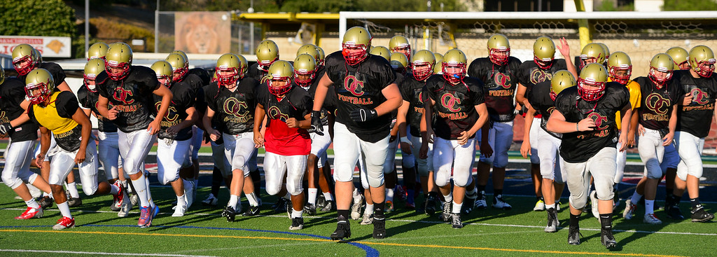 . Oaks Christian High School starts practice, Wednesday, August 20, 2014. (Photo by Michael Owen Baker/Los Angeles Daily News)