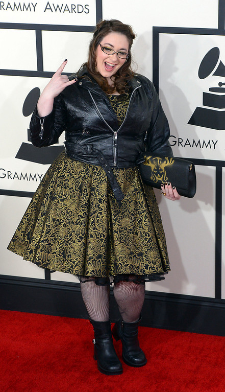. Annie Stoll arrives at the 56th Annual GRAMMY Awards at Staples Center in Los Angeles, California on Sunday January 26, 2014 (Photo by David Crane / Los Angeles Daily News)