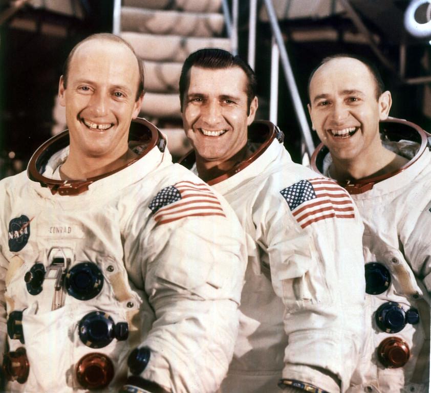 ". 1970 Rose Parade grand marshals, Apollo 12 astronauts, left to right, Charles P. \""Pete\"" Conrad, commander, Richard F. Gordon, command module pilot, and Alan L. Bean, lunar module pilot. ( AP Photo /NASA, ho )"