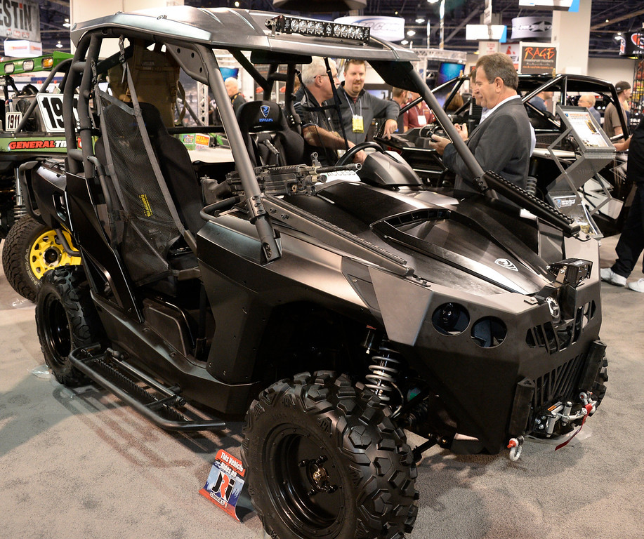 . Nov 6,2013 Las Vegas NV. USA. Some the many custom UTV\'s on display  during the second day of the 2013 SEMA auto show.
