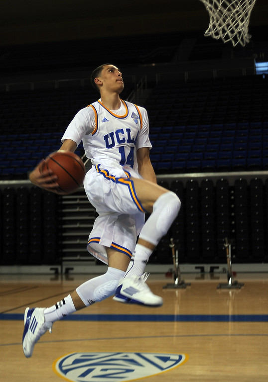 . UCLA freshman Zach LaVine, has been one of the Bruins\' most electrifying players this season. (Photo by Hans Gutknecht/Los Angeles Daily News)