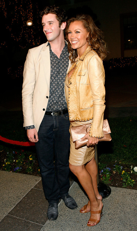 ". Actors Vanessa Williams, right, and Michael Urie arrive at the premiere of ""Sweeney Todd: The Demon Barber of Fleet Street\"" in Los Angeles on Wednesday, Dec. 5, 2007.  (AP Photo/Matt Sayles)"
