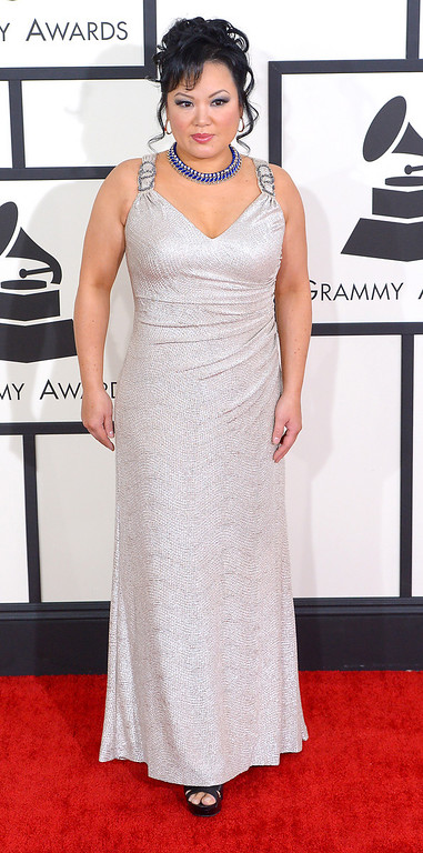 . Angelin Chang arrives at the 56th Annual GRAMMY Awards at Staples Center in Los Angeles, California on Sunday January 26, 2014 (Photo by David Crane / Los Angeles Daily News)