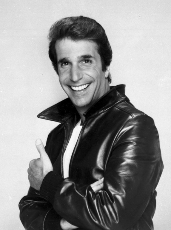 ". This file photo from 1984 shows Henry Winkler as ""The Fonz\"".  (AP Photo/File)"