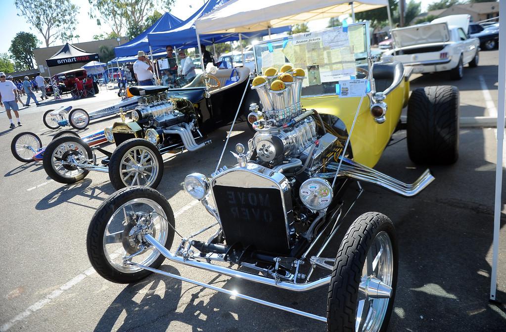 . A 1923 Ford Model T Roadster during the 4th annual La Habra Highlanders car show at La Habra High School in La Habra Calif. on Saturday, Sept. 7, 2013.   (Photo by Keith Birmingham/Pasadena Star-News)