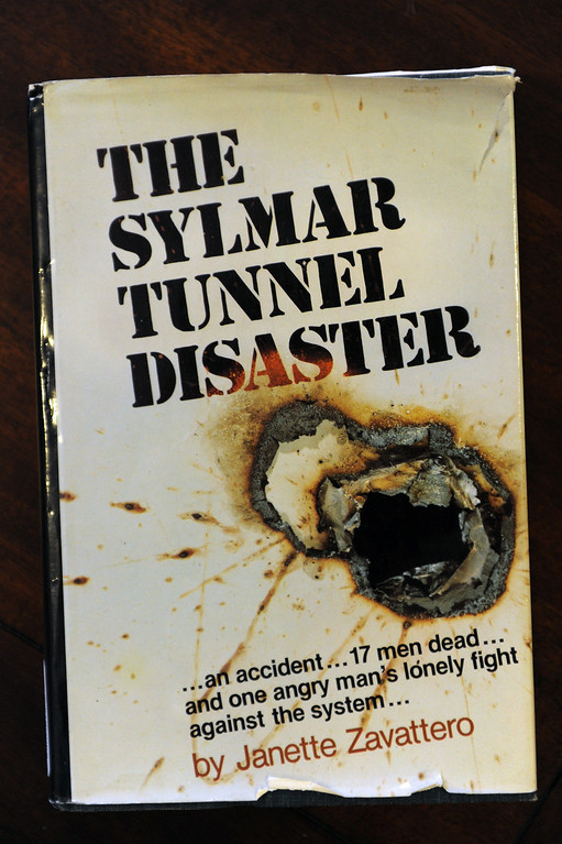 . A book written about the 1971 Sylmar water tunnel explosion that killed 17 miners. (Michael Owen Baker/Staff Photographer)