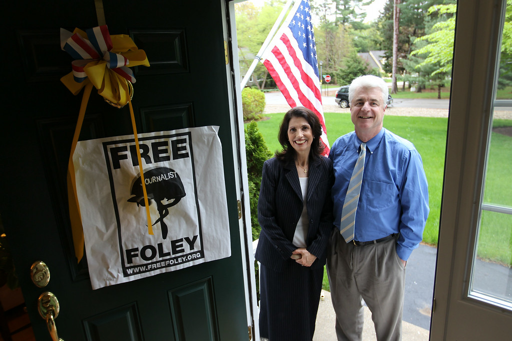 . John and Diane Foley, parents of journalist James Foley, are photographed at their home in Rochester, N.H., Wednesday, May 18, 2011. (AP Photo/Cheryl Senter)