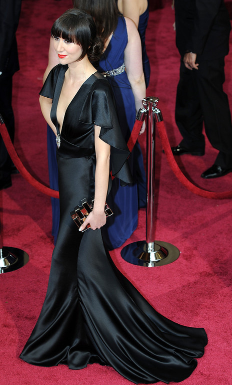 . Karen O attends the 86th Academy Awards at the Dolby Theatre in Hollywood, California on Sunday March 2, 2014 (Photo by John McCoy / Los Angeles Daily News)
