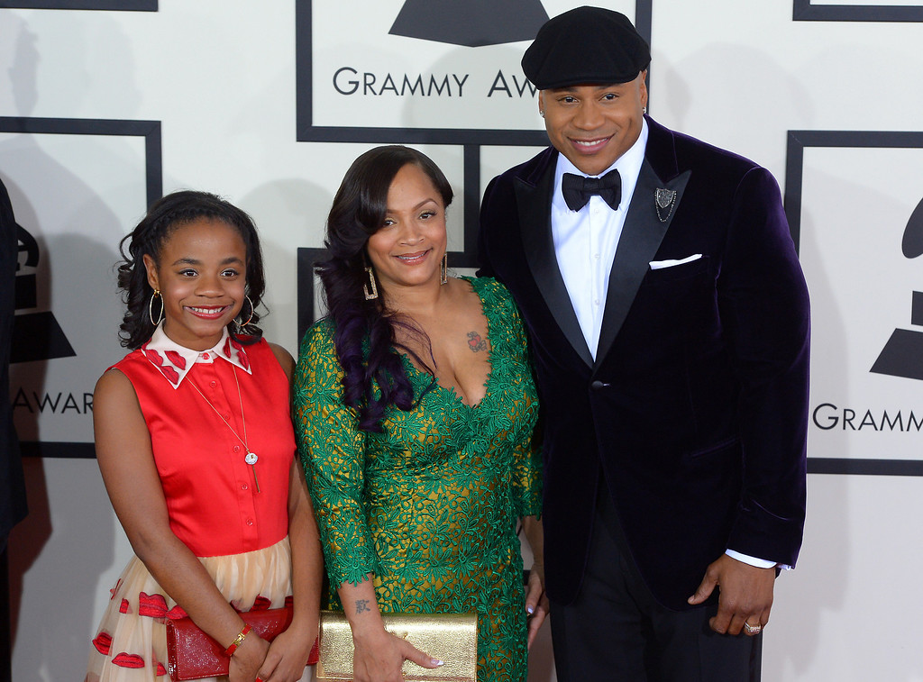 . LL Cool J and guests arrive at the 56th Annual GRAMMY Awards at Staples Center in Los Angeles, California on Sunday January 26, 2014 (Photo by David Crane / Los Angeles Daily News)