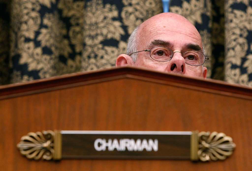 """. House Oversight and Government Reform Committee Chairman Rep. Henry Waxman (D-CA) listens to testimony during a hearing on \""""The Role of Fannie and Freddie Mac in the Financial Crisis\"""" on Capitol Hill December 9, 2008 in Washington, DC.   (Photo by Chip Somodevilla/Getty Images)"""