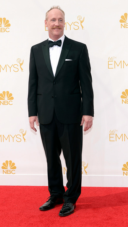 . Matt Walsh on the red carpet at the 66th Primetime Emmy Awards show at the Nokia Theatre in Los Angeles, California on Monday August 25, 2014. (Photo by John McCoy / Los Angeles Daily News)