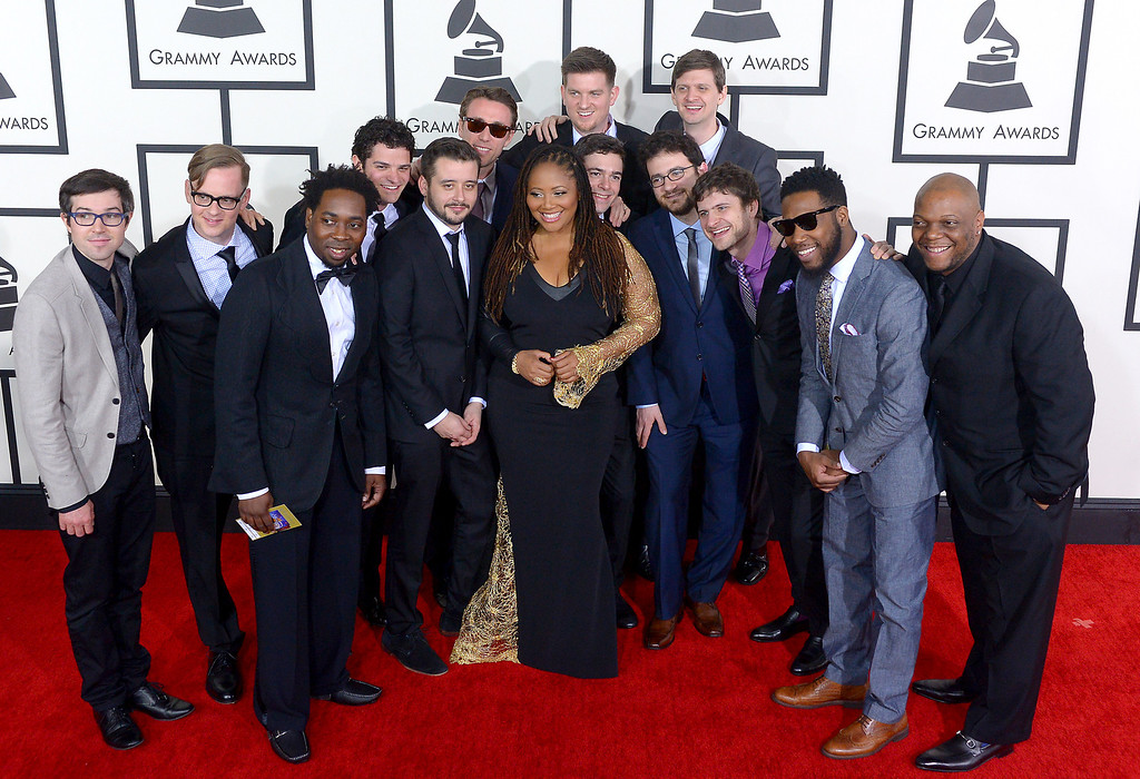 . Snarky Puppy arrives at the 56th Annual GRAMMY Awards at Staples Center in Los Angeles, California on Sunday January 26, 2014 (Photo by David Crane / Los Angeles Daily News)