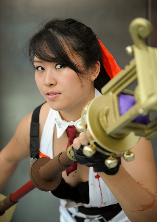 . Jessica Lam is dressed as Momiji from Ninja Gaiden at the Anime Expo at the L.A. Convention Center, Saturday, July 6, 2013. (Michael Owen Baker/L.A. Daily News)