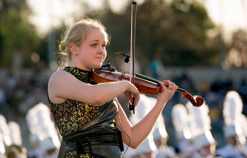 . Rosemount High School Marching Band of Rosemount, Minn. performs  during the Pasadena Tournament of Roses Bandfest I at Pasadena City College Dec. 29, 2013.   (Staff photo by Leo Jarzomb/Pasadena Star-News)