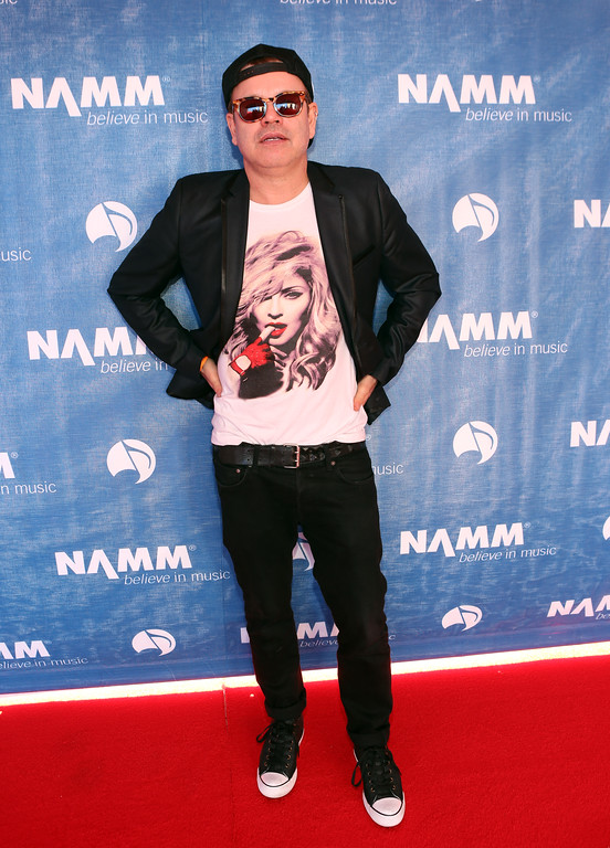 . ANAHEIM, CA - JANUARY 23:  DJ Paul Oakenfold attends the 2014 National Association of Music Merchants show media preview day at the Anaheim Convention Center on January 23, 2014 in Anaheim, California.  (Photo by Jesse Grant/Getty Images for NAMM)