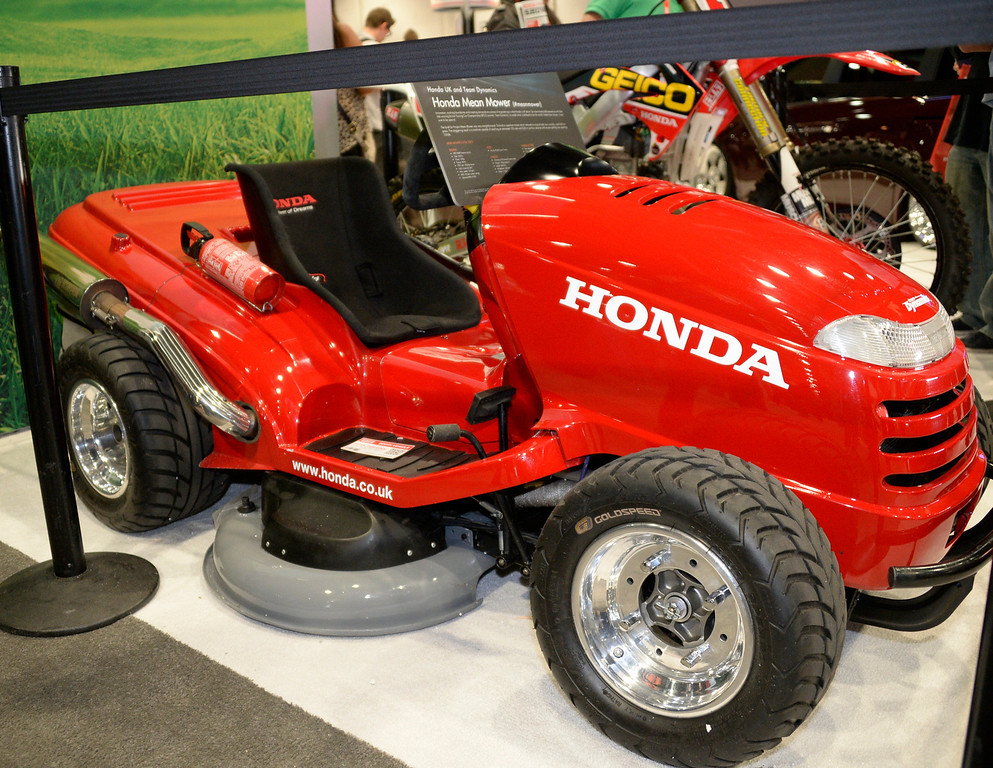 . Nov 6,2013 Las Vegas NV. USA. Honda\'s mean mower on display during the second day of the 2013 SEMA auto show.