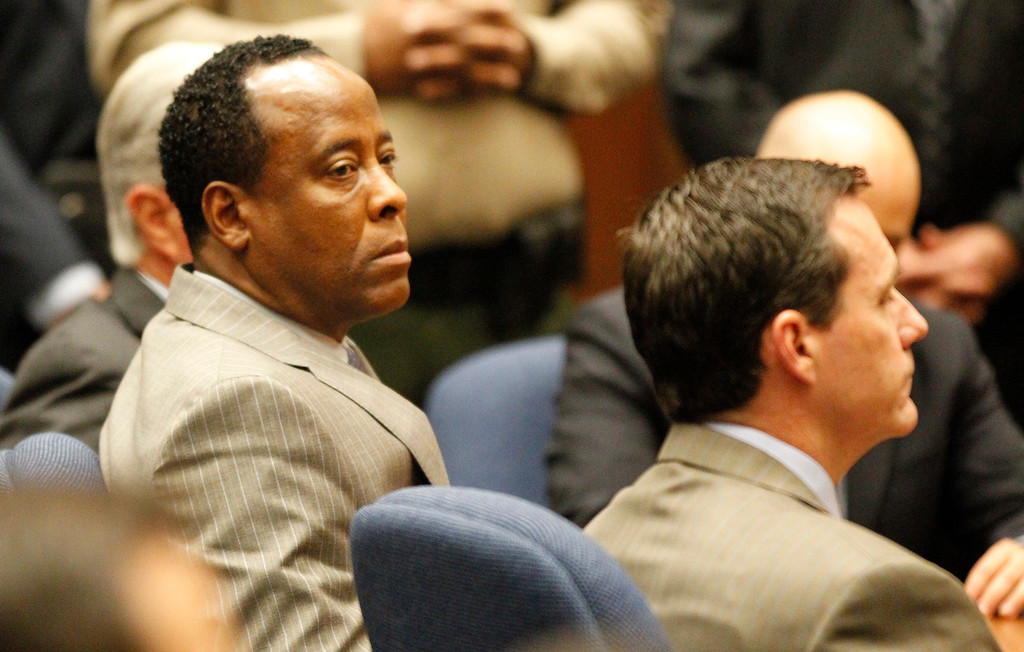 . Dr. Conrad Murray remained expressionless as the jury returned with a guilty verdict in his involuntary manslaughter trial at the Los Angeles Superior Court on November 7, 2011 in Los Angeles, California.  Murray was convicted in the 2009 death of pop singer Michael Jackson from an overdose of the powerful anesthetic propofol.    (Photo by Al Seib-Pool/Getty Images)