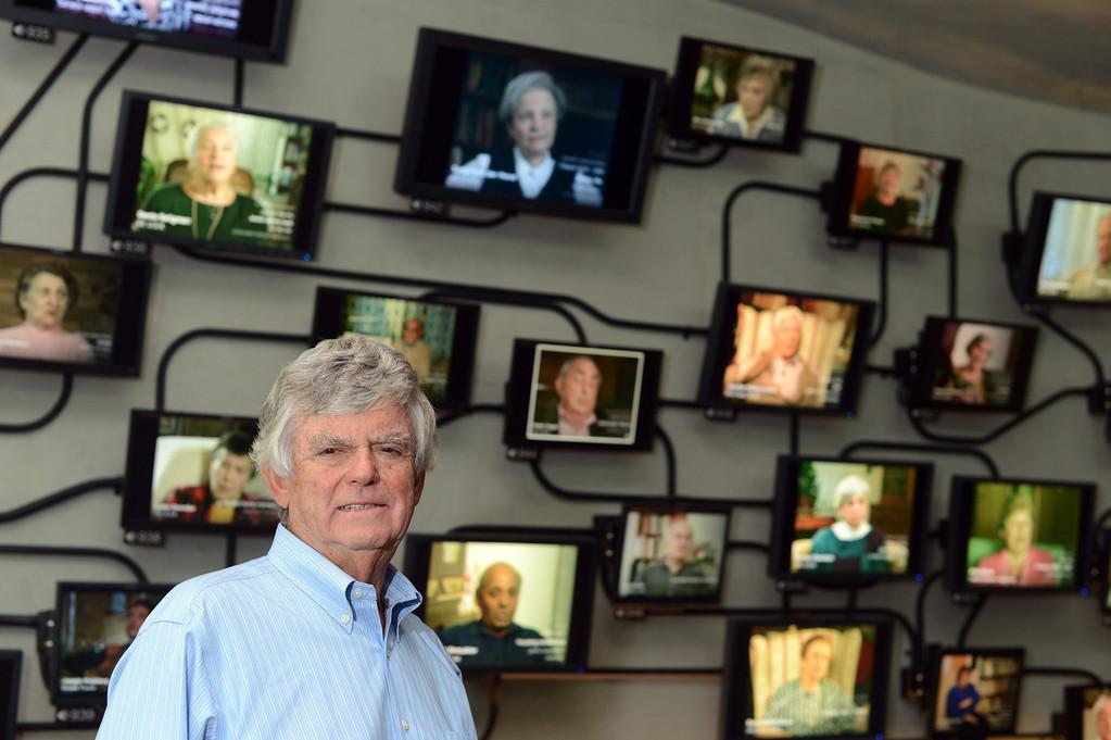 . Holocaust survivor Robert Geminder at the Los Angeles Museum of the Holocaust in Los Angeles Thursday, September 12, 2013. (Hans Gutknecht/Los Angeles Daily News)