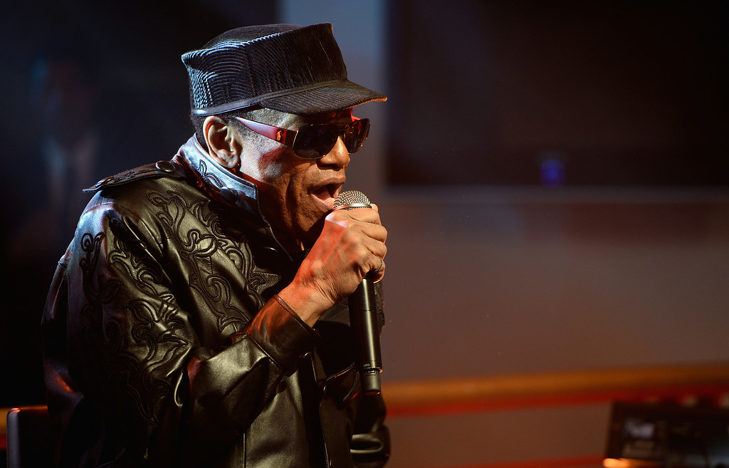 . Bobby Womack performs on the From The Storehouse With Dermot Whelan show, which aired on RTE 2, ahead of this year�s Arthur\'s Day celebrations on September 25, 2013 in Dublin, Ireland.  Womack died on Friday, June 27, 2014. He was 70. http://bit.ly/XTjuK8  (Photo by Ian Gavan/Getty Images for Guinness)