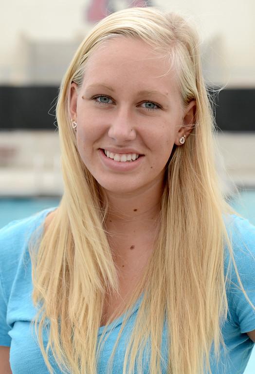 . Cori Casper has been named to the Inland Valley Daily Bulletin\'s All-Area Swim Team. Casper is a junior at Ayala High School. Thomas Cordova, staff photographer Inland Valley Daily Bulletin.