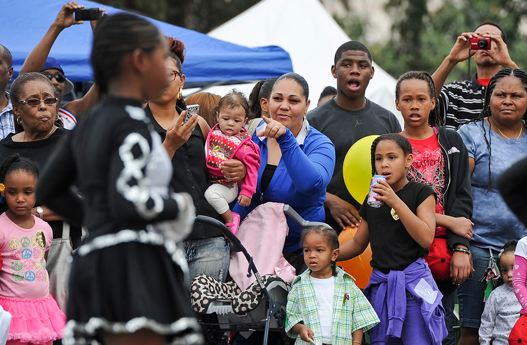 """. Southern California Black chamber of Commerce hosts the 44th annual Black History Parade at the National Orange show in San Bernardino on Saturday, Feb. 2, 2013. This year\'s theme marked tribute to the 50th anniversary of Dr. Martin Luther King Jr. speech, \""""I Have a Dream.\""""  (Staff file photo/The Sun)"""