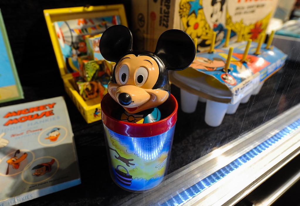 . Mickey Mouse memorabillia is on display in the Pencils 2 Pixels: The Art of Animation exhibit at the 91st annual Los Angeles County Fair in Pomona on Sept. 2, 2013. The fair will run through September 29. (Rachel Luna / San Bernardino Sun)