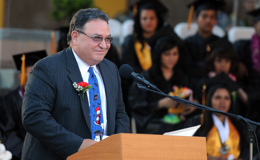 ". Keynote speaker Robert ""Bo\"" Henke during the Vail High School commencement at Vail High School on Tuesday, June 18, 2013 in Montebello, Calif.