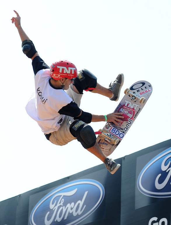 . Rony Gomes during the Skateboard Vert Finals at L.A. Live in Los Angeles, CA. 8/3/2013(John McCoy/LA Daily News)