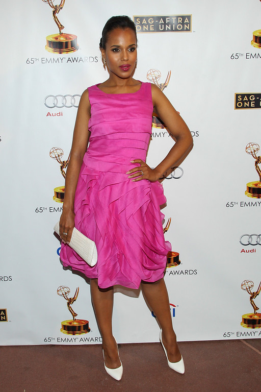. Actress Kerry Washington arrives at the 65th Emmy Awards Nomination Celebration at the Academy of Television Arts and Sciences on Tuesday, Sept. 17, 2013 in North Hollywood, California. (Photo by Paul A. Hebert/Invision/AP)