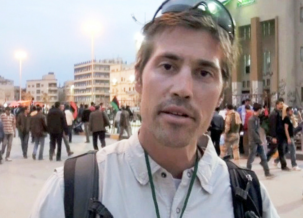 . This undated file still image from video released April 7, 2011, by GlobalPost, shows James Foley of Rochester, N.H., a freelance contributor for GlobalPost, in Benghazi, Libya. .(AP Photo/GlobalPost, File)