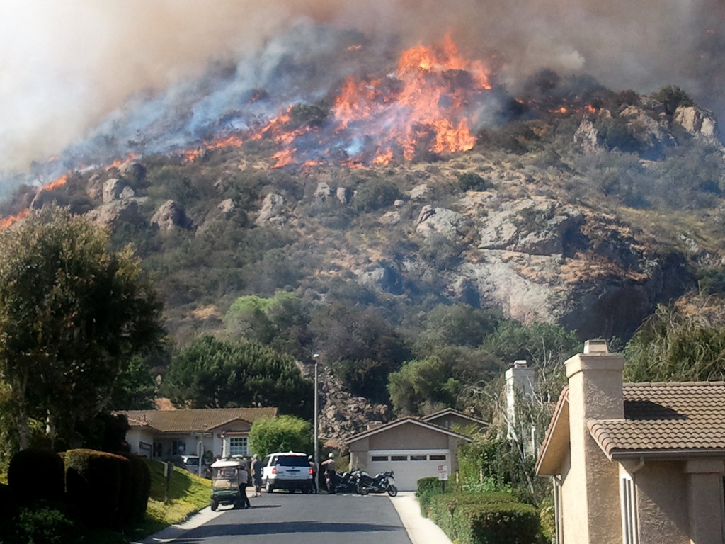 . The Springs Fire in Camarillo broke out after 6 a.m. on May 2, 2013, The fire has grown to more than 2,000 acres and is burning close to homes. (Gene Blevins/Los Angeles Daily News)