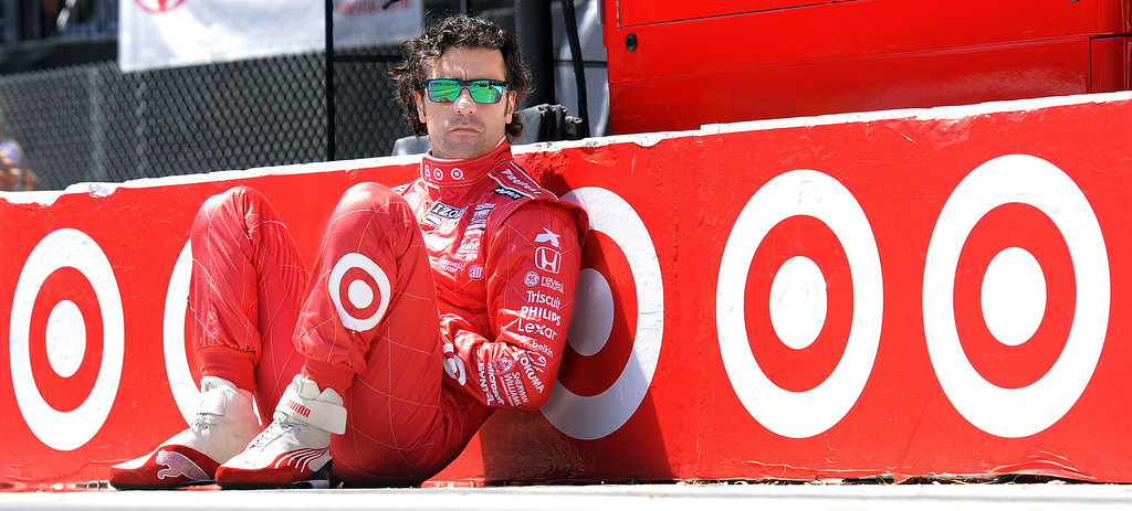 . (Will Lester/Staff Photographer)  Indycar driver Dario Franchitti sits in his pit lane prior to the start of qualifying Saturday April 20, 2013 at the 39th annual Toyota Grand Prix of Long Beach. Franchitti won the pole for Sunday\'s race on the final lap of qualifying.