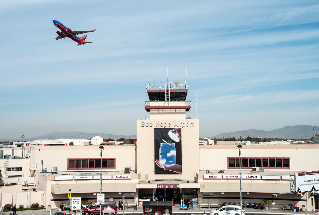 . A Southwest jet takes off from Bob Hope airport in Burbank, CA Tuesday, March 11, 2014.  (Photo by David Crane/Los Angeles Daily News)