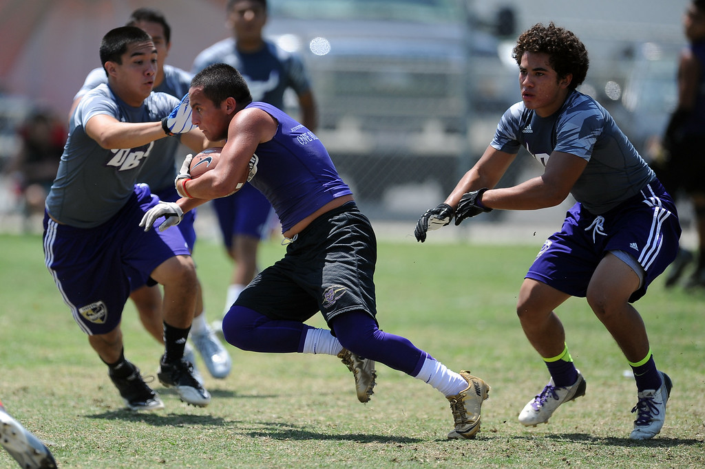 . Mountain View vs. Diamond Bar during the San Gabriel Valley Shootout football passing league at Arroyo High School Saturday, July 13, 2013 in El Monte, Calif.   (Keith Birmingham/Pasadena Star-News)