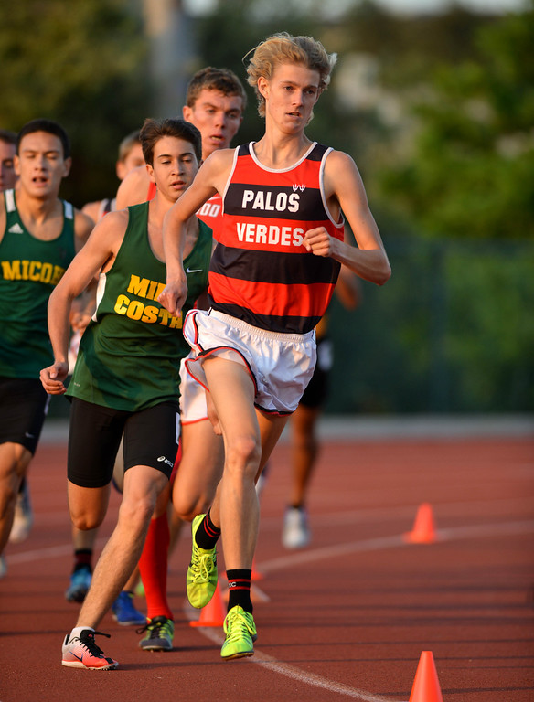 . 05-03-2013-(LANG Staff Photo by Sean Hiller)-  The Bay League track and field finals Friday night at Mira Costa High School.