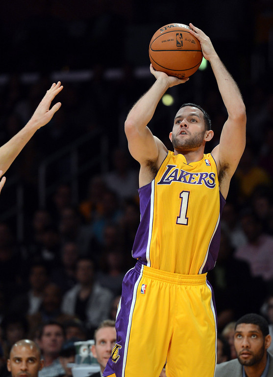. <b>Jordan Farmar</b>, point guard, averaged 10.2 points and 4.8 assists in 22.3 minutes through 40 games <br /><br /> <b> Outlook</b>: The Lakers want to re-sign Farmar, mindful he would be necessary insurance for Steve Nash, who is expected to stay so his $9.8 million salary gets off the Lakers� books for the 2015 offseason. Farmar would love to have a long-term future here. (Photo by Hans Gutknecht/Los Angeles Daily News)