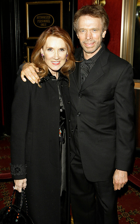 . Producer Jerry Bruckheimer poses with his wife  Linda  during red-carpet arrivals to the world premiere of his action-thriller film titled Deja Vu, in New York, Monday Nov 20, 2006. (AP Photo/Stuart Ramson)