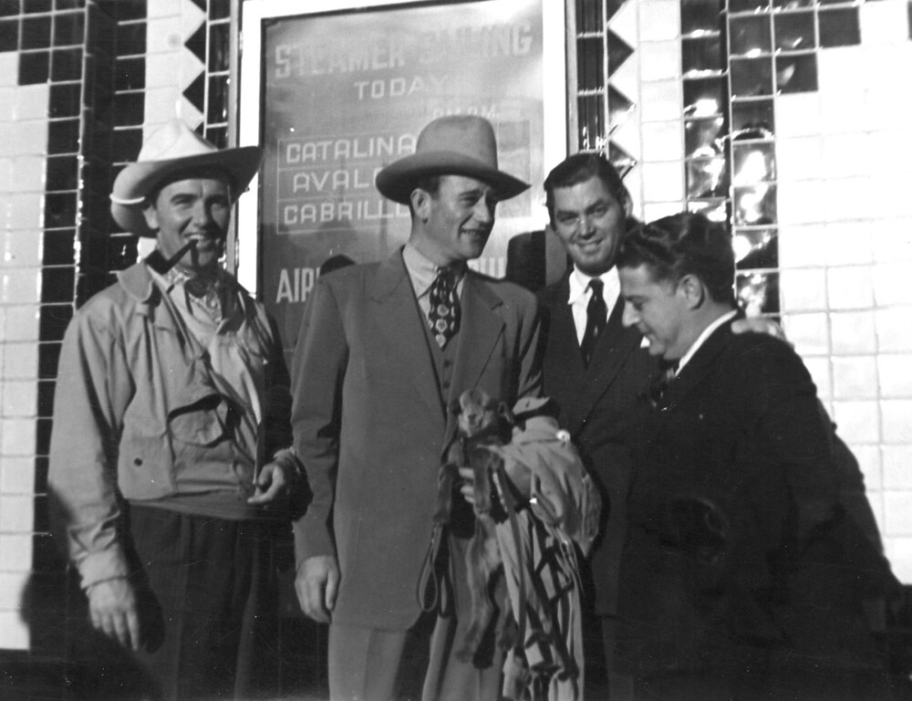 . John Wayne Johnny Weismuller and Preston Foster Photo Courtesy Catalina Island Museum