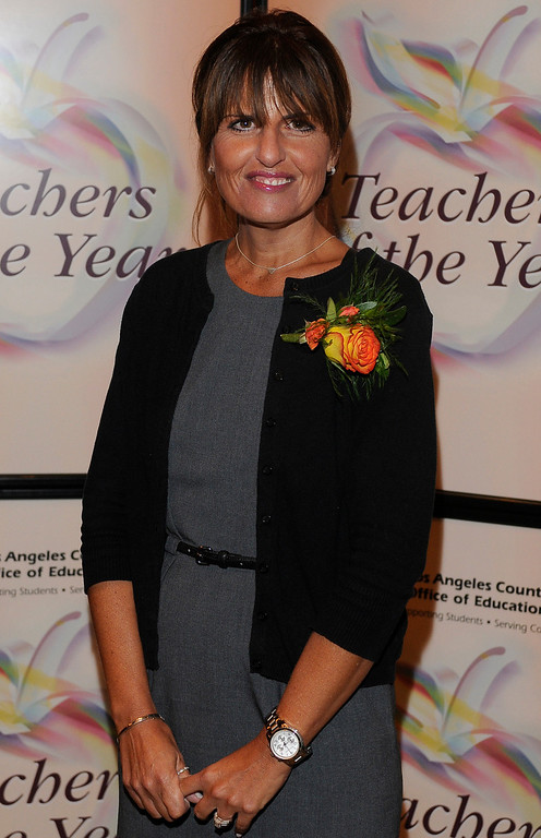 . Beth Katz from El Segundo USD. Sixteen teachers from throughout the Los Angeles County were named as Teachers of the Year during a ceremony at the Universal Hilton. Teachers received a cash award from the California Credit Union as well as software and hardware to use in their classrooms from eInstruction. Universal City, CA. 9/27/2013. photo by (John McCoy/Los Angeles Daily News)