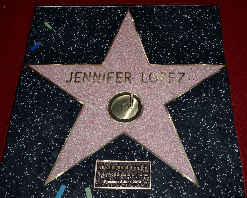 . US actress, singer Jennifer Lopez\'  star on the Hollywood Walk of Fame in Hollywood, California, USA 20 June 2013. Lopez was awarded the 2,500th star on the Hollywood Walk of Fame in the category of Recording.  EPA/PAUL BUCK