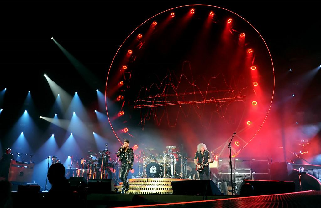 . Queen + Adam Lambert perform at The Forum in Inglewood, Calif., on Thursday, July 3, 2014.  (Keith Birmingham Pasadena Star-News)