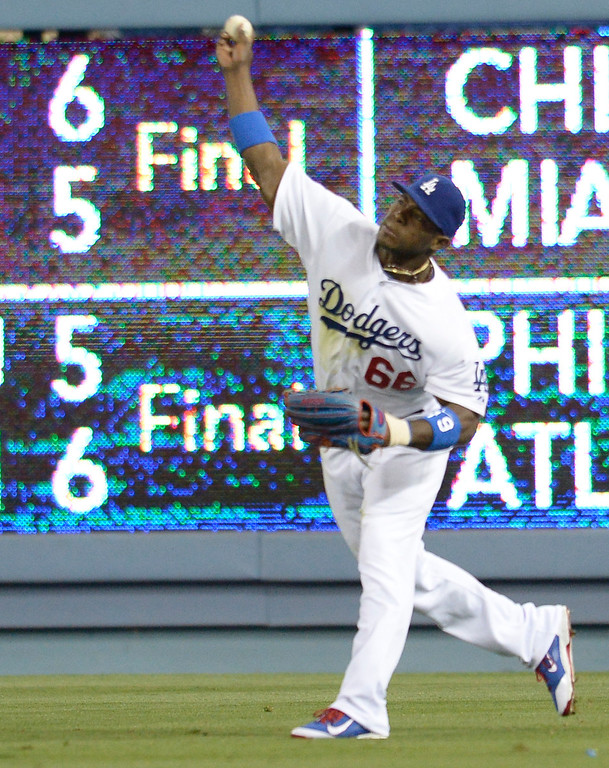 . The Dodgers defeated the Colorado Rockies at 4-2 Dodger Stadium in Los Angeles, CA. 6/18/2014(Photo by John McCoy Daily News)