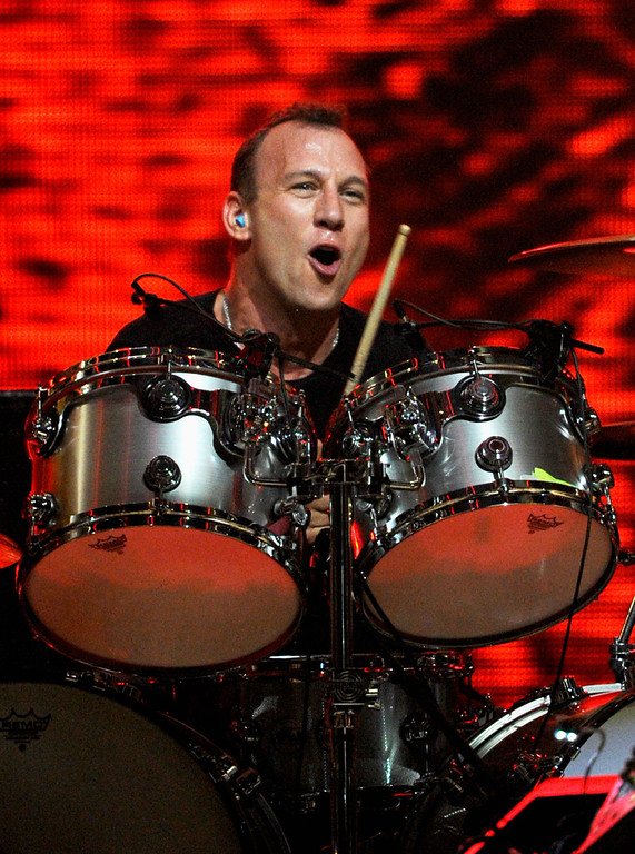 . LAS VEGAS, NV - SEPTEMBER 23:  Musician Stephen Perkins of the band Jane\'s Addiction performs onstage at the iHeartRadio Music Festival held at the MGM Grand Garden Arena on September 23, 2011 in Las Vegas, Nevada.  (Photo by Ethan Miller/Getty Images for Clear Channel)