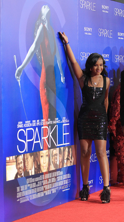 """. Bobbi Kristina Brown attends the Premiere Of Tri-Star Pictures\' \""""Sparkle\"""" at Grauman\'s Chinese Theatre on August 16, 2012 in Hollywood, California.  (Photo by Frederick M. Brown/Getty Images)"""