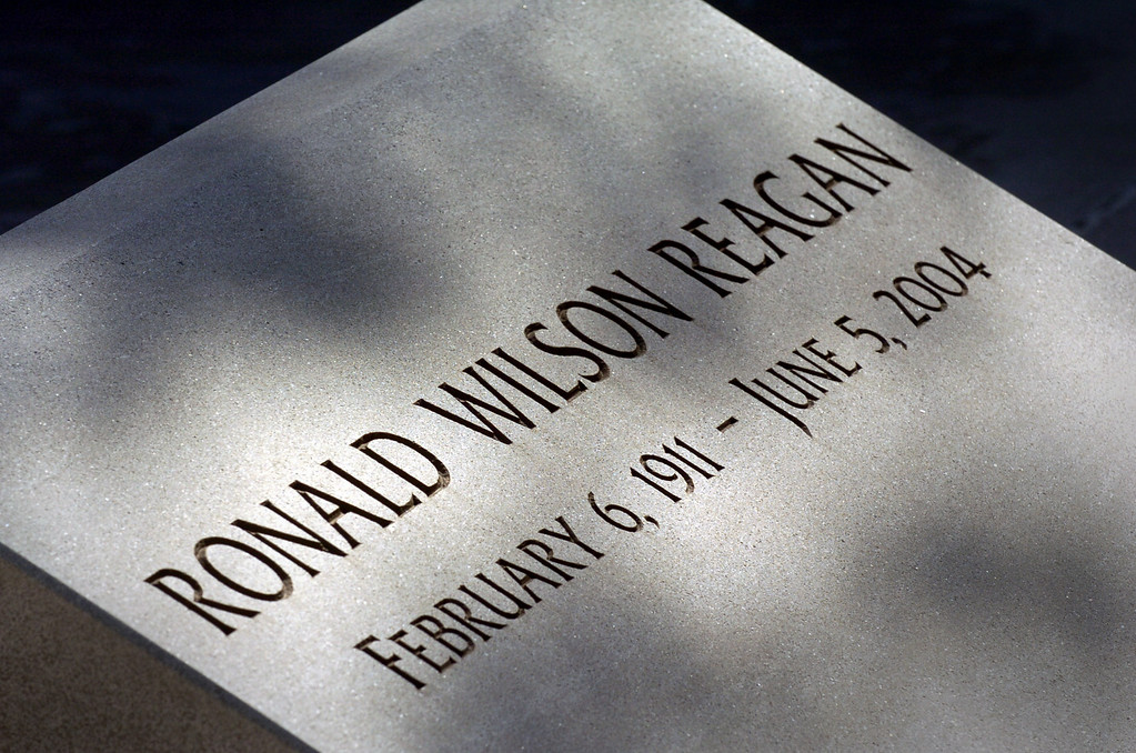 . The gravesite of Ronald Reagan at the Reagan Library. (Michael Owen Baker/Los Angeles Daily News)