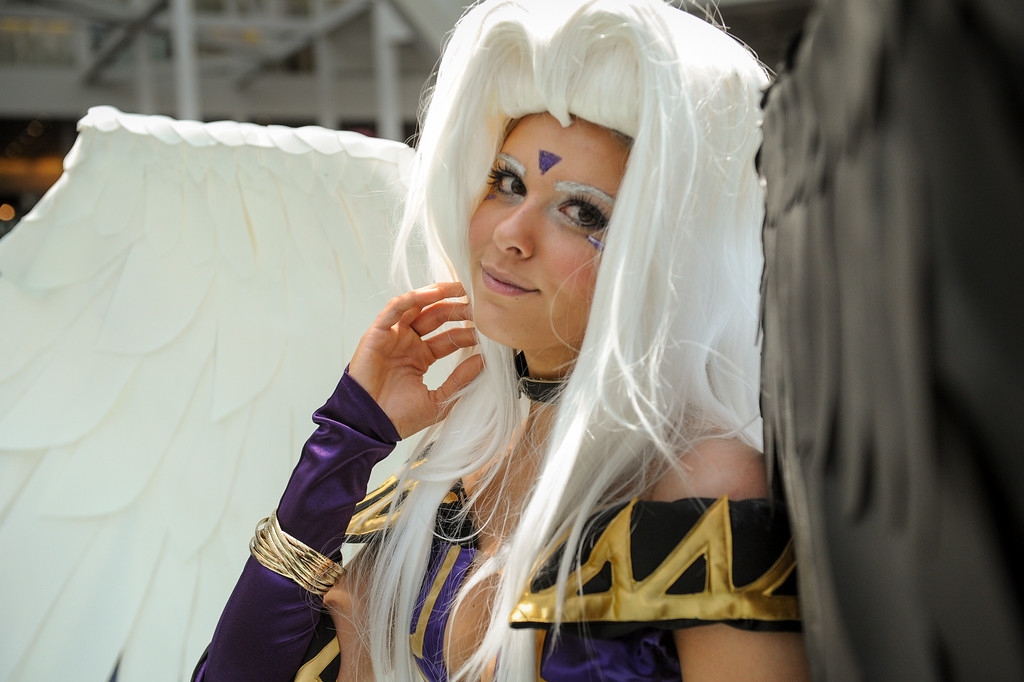 . The character Urd from Oh My Goddess! at the Anime Expo at the L.A. Convention Center, Saturday, July 6, 2013. (Michael Owen Baker/L.A. Daily News)