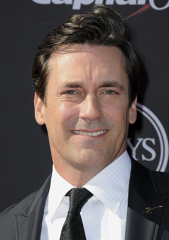 . Jon Hamm arrives at the ESPY Awards on Wednesday, July 17, 2013, at the Nokia Theater in Los Angeles. (Photo by Jordan Strauss/Invision/AP)
