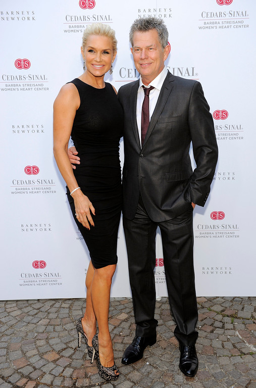 . Music producer David Foster and his wife Yolanda Hadid pose together at the dedication of the Barbra Streisand Women\'s Heart Center in the Cedars-Sinai Heart Institute, on Thursday June 14, 2012 at Streisand\'s home in Malibu, Calif. (Photo by Chris Pizzello/Invision/AP)