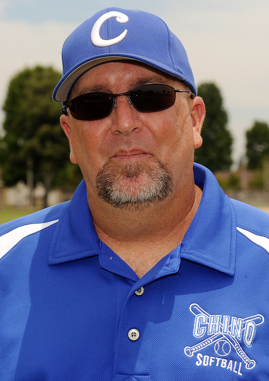 . Mike Smith has been named Coach of the Year to the Inland Valley Daily Bulletin\'s All-Area softball team. Smith the softball coach at Chino High School. Will Lester staff photo Inland Valley Daily Bulletin.